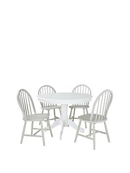 daisy-107-cm-round-dining-table-4-chairs-in-whitegrey