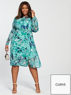 junarose-junarose-curve-emilija-long-sleeve-printed-tea-dress
