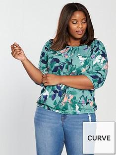 junarose-junarose-curve-emilija-34-sleeve-print-blouse
