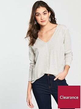v-by-very-curved-hem-long-sleeve-top-stripe