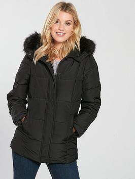 v-by-very-short-faux-fur-trim-paddednbspcoat-black
