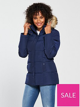 v-by-very-short-faux-fur-trim-paddednbspcoat-navy