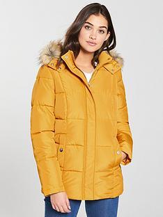 v-by-very-short-faux-fur-trim-paddednbspcoat-mustard