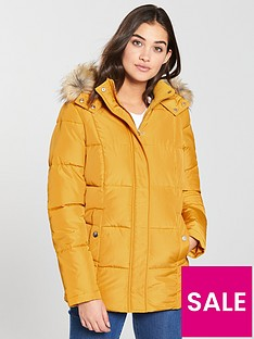 v-by-very-short-faux-fur-trim-paddednbspcoat-mustard
