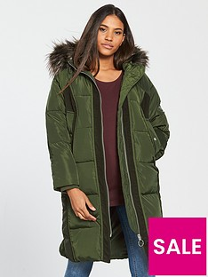 v-by-very-premium-cord-trimnbsppadded-coat-khaki