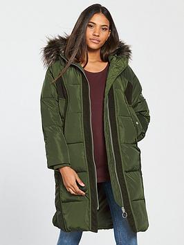 v-by-very-premium-cord-trimnbsppadded-coat-khaki