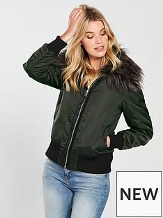 v-by-very-faux-fur-trim-bomber-jacket-khaki