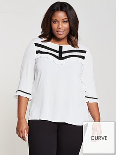 junarose-shara-34-sleeve-ruffle-blouse