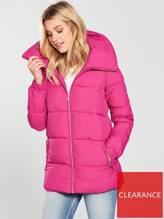 151e0ba5a V by Very Shawl Collar Padded Jacket - Pink