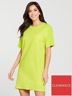 446888dbe91 adidas Originals Dye Pack Tee Dress - Yellow