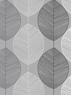 arthouse-scandi-leaf-mono-wallpaper