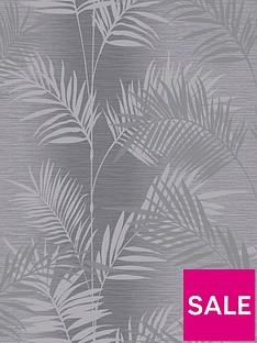 arthouse-diamond-palm-charcoal-wallpaper