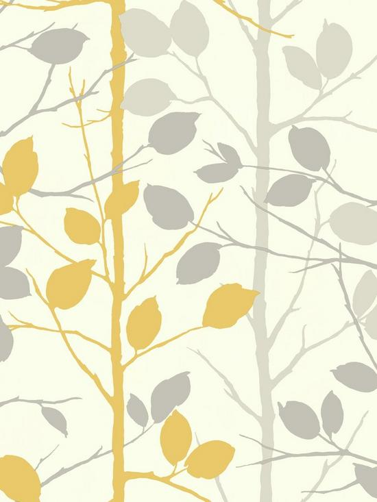 arthouse woodland grey yellow wallpaper