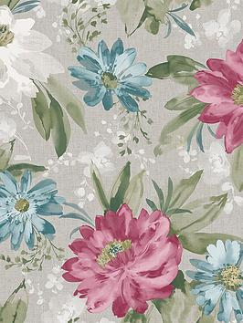 arthouse-painted-flower-pink-amp-teal-wallpaper
