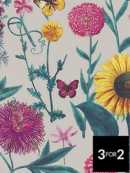 arthouse-sunflower-grey-wallpaper