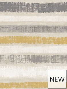 arthouse-painted-stripe-grey-amp-ochre-wallpaper