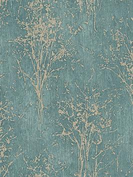 arthouse-floresta-teal-wallpaper