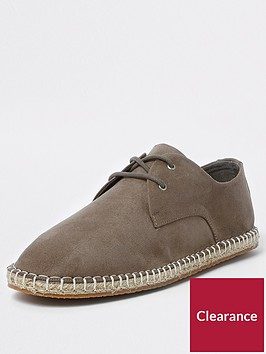 river-island-lace-up-espdarille
