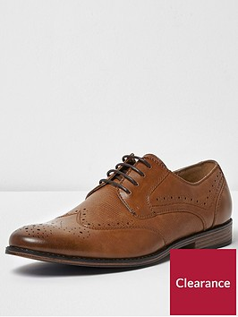 river-island-faux-crocnbspbrogue-tannbsp