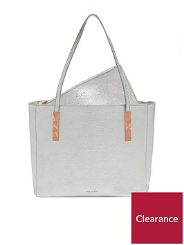 ted-baker-paigie-soft-grain-large-zip-tote-silver