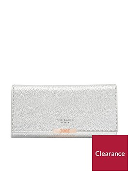 ted-baker-janet-stab-stitch-matinee-purse-with-chain-silver