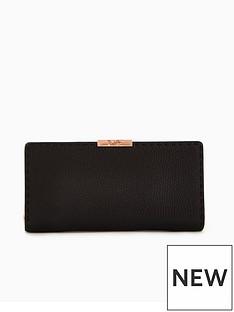 ted-baker-fernn-stab-stitch-zip-matinee-purse-black