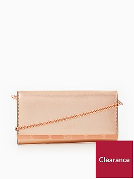 ted-baker-natalie-metal-bar-matinee-purse-with-chain-rose-gold