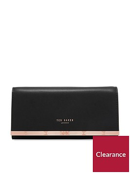 ted-baker-natalie-metal-bar-matinee-purse-with-chain-black