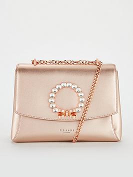 ted-baker-pearlz-pearl-bow-cross-body-bag-rose-goldnbsp