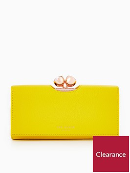ted-baker-tammyy-textured-bobble-matinee-purse-yellow