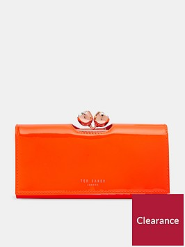 ted-baker-honeyy-twisted-bobble-patent-matinee-purse-orange