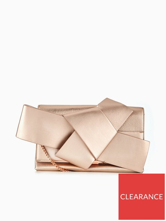 43428135cb9d Ted Baker Ted Baker Asterr Giant Knot Bow Clutch Bag