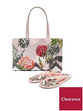 ted-baker-mable-palace-gardens-icon-flip-flop-handbag-set