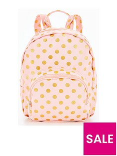 v-by-very-girls-rose-gold-spot-printed-backpack