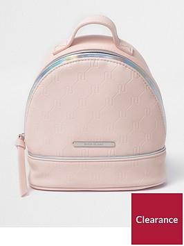 river-island-girls-pink-ri-embossed-backpack