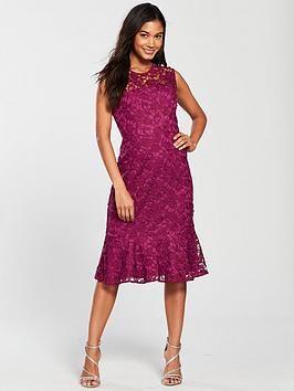 Phase Eight Sabby Lace Dress - Magenta