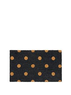 polka-dot-coir-doormat