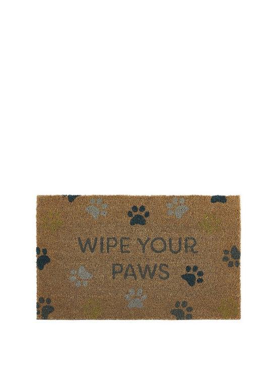Wipe Your Paws Coir Doormat Verycouk