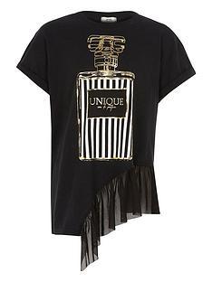 river-island-girls-black-perfume-print-mesh-hem-t-shirt
