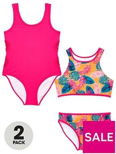 v-by-very-girls-crochet-tropical-swimwear-multipack