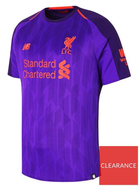 fc5a6cee0 New Balance Liverpool FC Mens 18 19 Short Sleeved Away Shirt