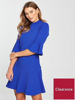 v-by-very-asymmetric-hem-dress-cobalt-blue