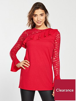 v-by-very-lace-frill-tunic-red