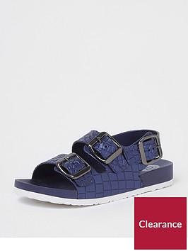 river-island-boys-navy-croc-buckle-sandals