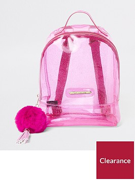 river-island-girls-pink-glitter-jelly-backpack