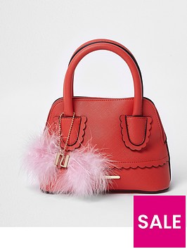 river-island-girls-red-scallop-trim-pom-pom-tote-bag