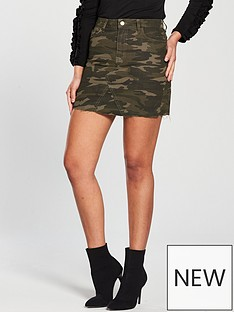 v-by-very-camo-denim-skirt