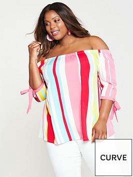 junarose-hila-off-the-shoulder-three-quarter-sleeve-blouse-lollipop