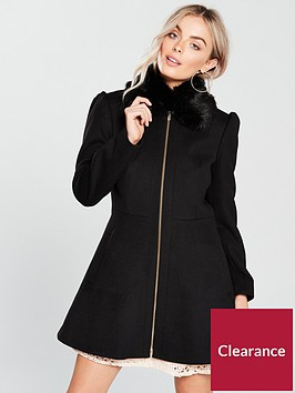 v-by-very-petite-zip-front-skater-coat-blacknbsp