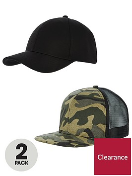 v-by-very-mens-v-by-very-2-pack-flat-peak-cap
